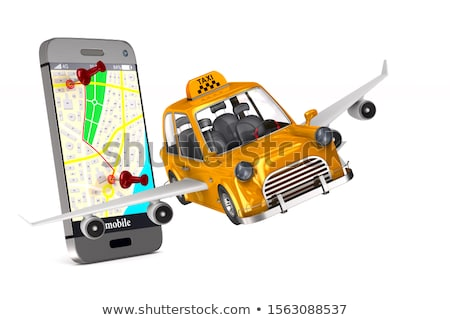 Yellow taxi on white background. Isolated 3D illustration Stock photo © ISerg
