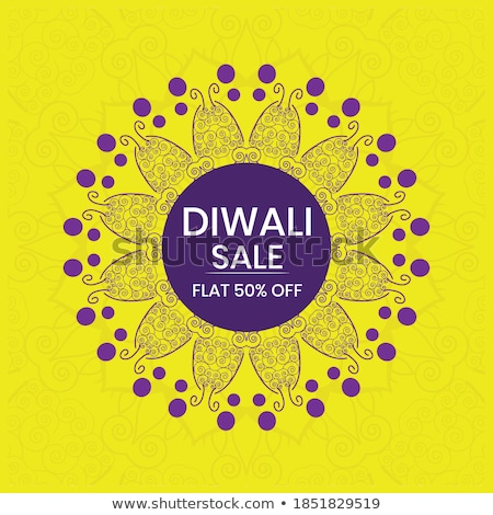 lovely happy diwali yellow banner design with diya Stock photo © SArts