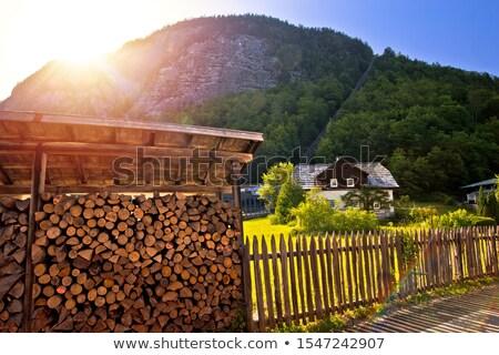 Montagne rail alpine paysage soleil Photo stock © xbrchx