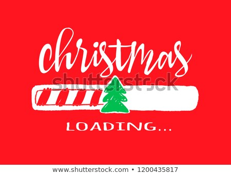 christmas time   modern line design style web banner stock photo © decorwithme