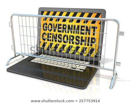 Black laptop with ACCESS DENIED sign on screen 3D Stock photo © djmilic