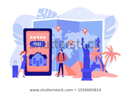 Hospitality and travel clubs concept vector illustration Stock photo © RAStudio