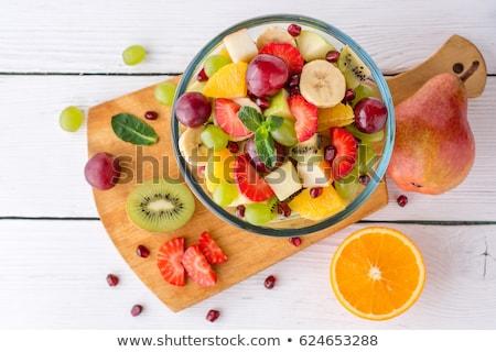 Schüssel Früchte Bananen kiwi Apfel Birne Stock foto © robuart