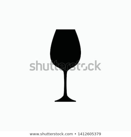 ワイングラス アイコン 黒白 ドリンク ワイン レストラン ストックフォト © Imaagio
