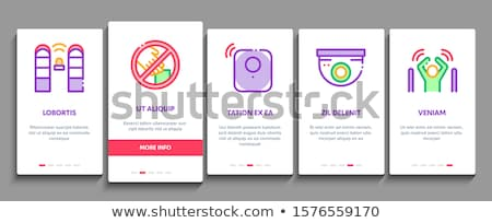 Communie vector mobiele app pagina Stockfoto © pikepicture