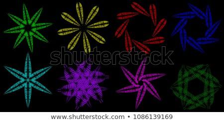 Géométrique cadre papier feuille Photo stock © artjazz