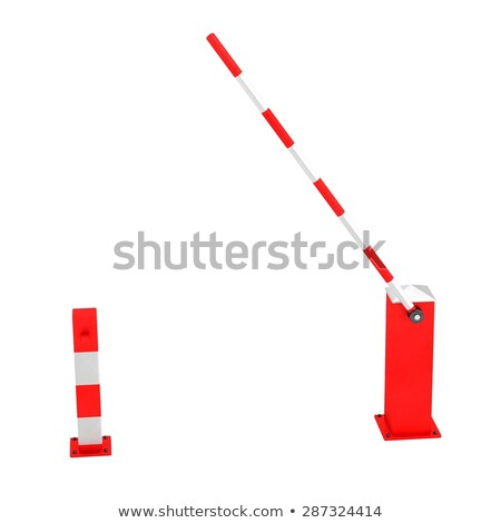 3D model of boom barrier