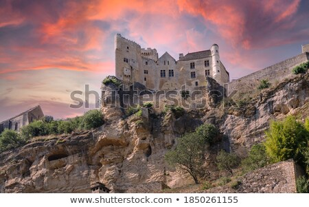 Departamento França ver castelo topo penhasco Foto stock © borisb17