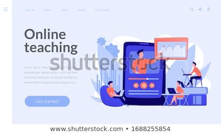 Video tutorial watching vector concept metaphor. Stock photo © RAStudio