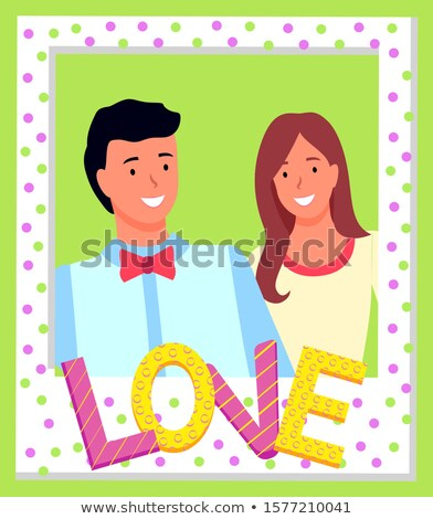 Uśmiechnięty para wektora człowiek Zdjęcia stock © robuart