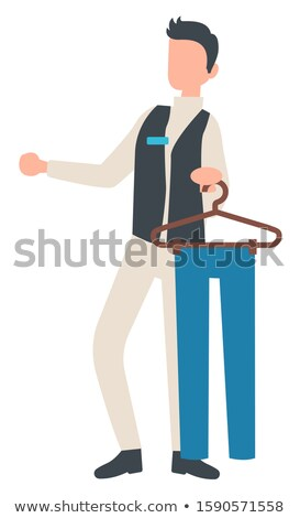 Man broek pants hanger Stockfoto © robuart
