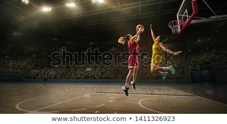 jonge · atletisch · uniform · bal - stockfoto © grafvision