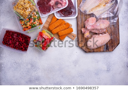 Set of various frozen products Stock photo © furmanphoto