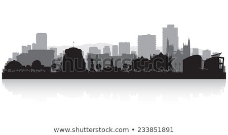 Wellington preto e branco silhueta simples turismo Foto stock © ShustrikS