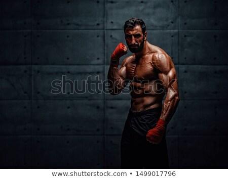 Muskularny bokser myśliwiec praktyka umiejętności sukces Zdjęcia stock © Jasminko