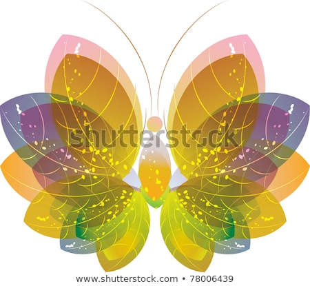 Colorful abstract butterfly over white stock photo © Elmiko