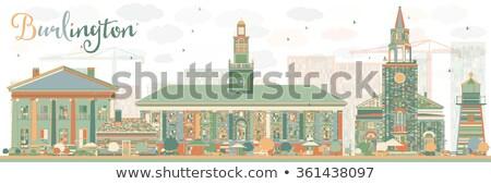 Abstrato Vermont cor edifícios negócio Foto stock © ShustrikS