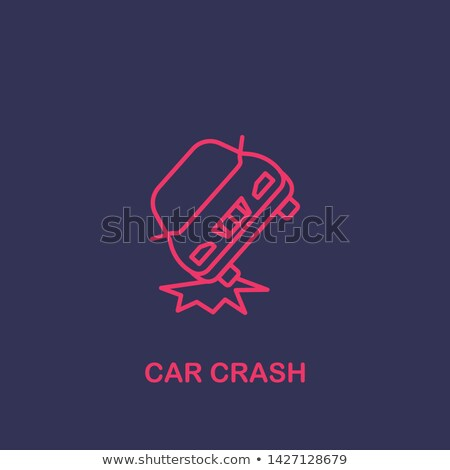 collision of two cars icon vector outline illustration Stock photo © pikepicture