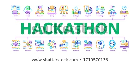 Hackathon Development Minimal Infographic Banner Vector Stock photo © pikepicture
