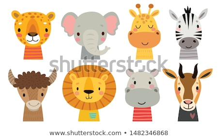 Elefante africano desenho animado ilustração feliz Foto stock © izakowski