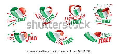 The national flag of the Italy and the inscription I love Italy. Vector illustration Stock photo © butenkow