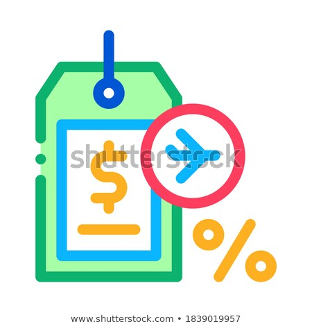 duty free item price tag icon vector outline illustration Stock photo © pikepicture