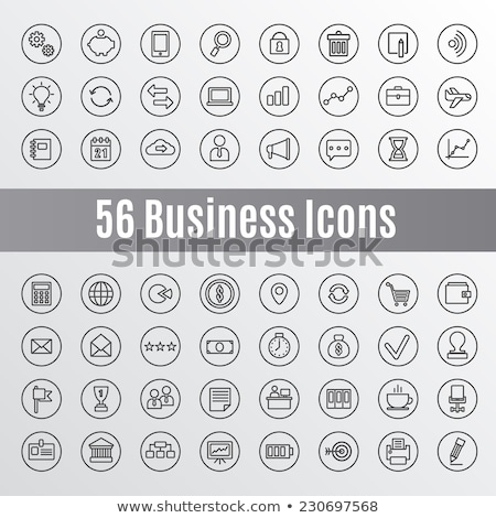 settings documents in computer icon vector outline illustration Stock photo © pikepicture