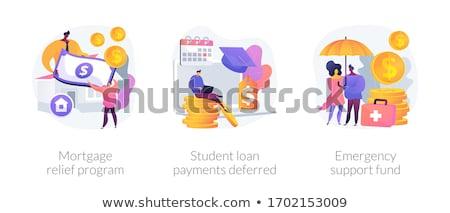 Сток-фото: Mortgage Relief Program Abstract Concept Vector Illustration