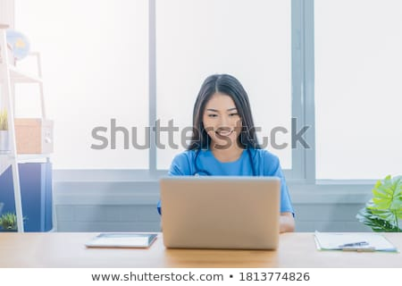 senior psychologist with tablet pc and patient Stock photo © dolgachov