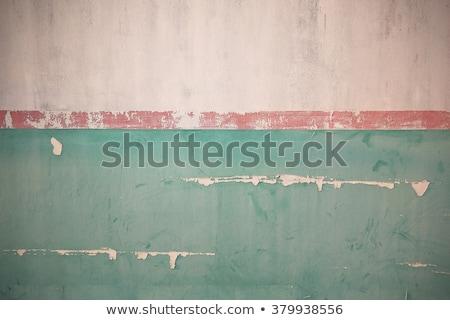 平らでない · 古い · 壁 · 緑 · 塗料 · 背景 - ストックフォト © nuttakit