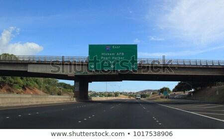 Honolulu autópálya tábla magas döntés grafikus felhő Stock fotó © kbuntu