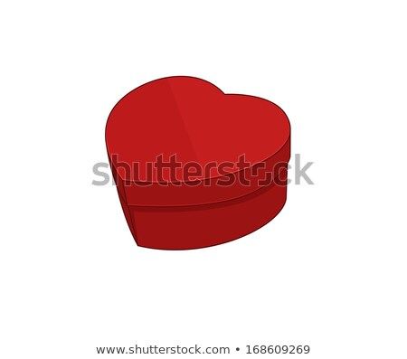 red box in form heart stock photo © ruslanomega
