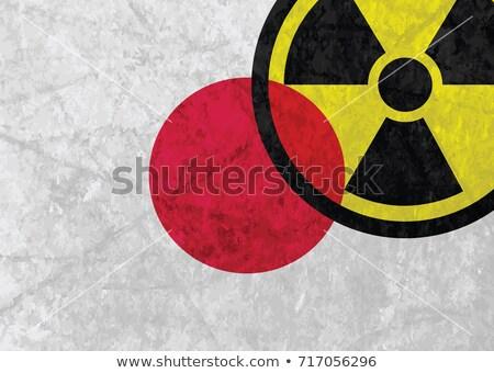 Japonya radyoaktivite tehlikeli ikon simge acil durum Stok fotoğraf © jordygraph
