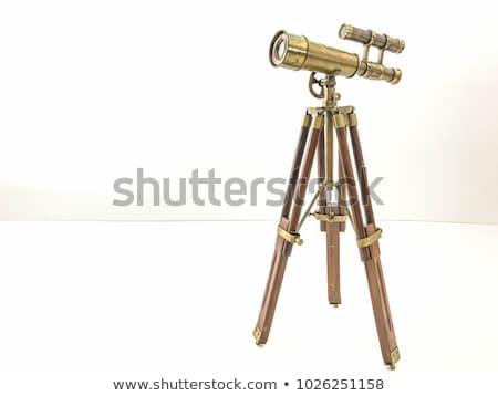 антикварная телескопом окна каменные Смотреть Сток-фото © premiere