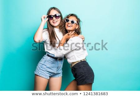 портрет · два · девочек · блондинка · моде · модель - Сток-фото © RuslanOmega
