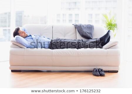 ビジネスマン · 寝 · ソファ · 白 · 男 · スーツ - ストックフォト © RuslanOmega