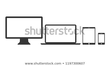 werken · moderne · computer · boek · werk - stockfoto © Hasenonkel