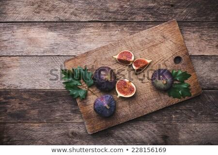 Fresh Figs On Wooden Board Stok fotoğraf © Arsgera