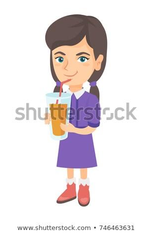 enthousiast · vrouw · drinken · sinaasappelsap · keuken · home - stockfoto © photography33