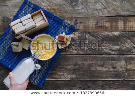 アメリカ ミルク ボトル 説明する 牛 皮膚 ストックフォト © chlhii1