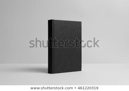オープン · アンティーク · 革 · 図書 · 白 · テクスチャ - ストックフォト © stoonn