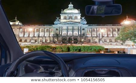 Stock fotó: Bent · múzeum · Prága · széles · nézőpont · épület