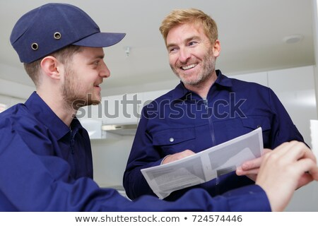 duo of plumbers indoors Stock photo © photography33