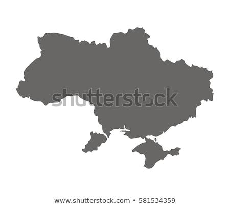 Ucrânia mapa vetor diversão girassol trigo Foto stock © Galyna