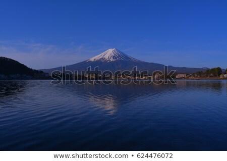 Lago água natureza neve árvores montanha Foto stock © yoshiyayo
