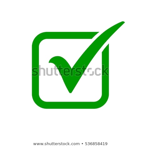 Green check box with check mark Stock photo © m_pavlov