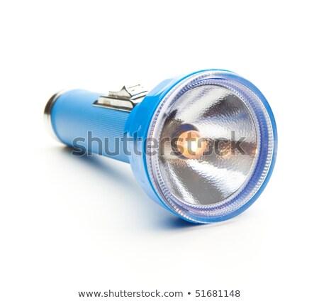 Blue rugged aluminum flashlight, Stock photo © cozyta