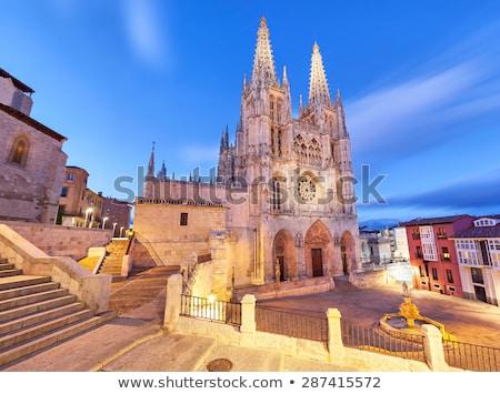 kilise · İspanya · gün · batımı · Bina · şehir - stok fotoğraf © asturianu