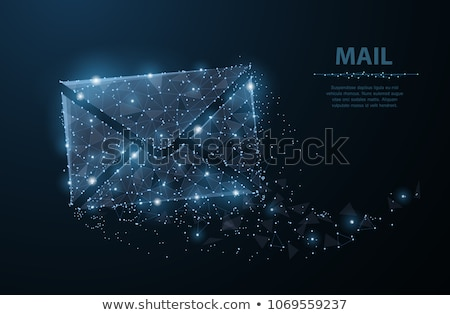 dotted e mail sign stock photo © ojal