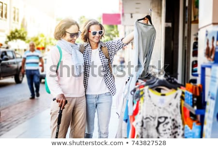 two senior women shopping at the market stock photo © photography33